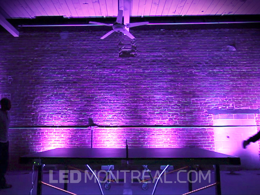 1m indoor rgb led wall washer bar led montreal. Black Bedroom Furniture Sets. Home Design Ideas