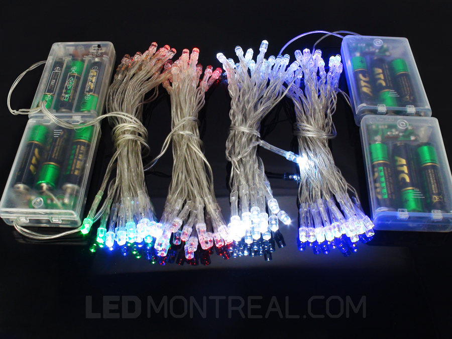 3.6m Battery powered LED Lights, LED Light Strings - LED Montreal