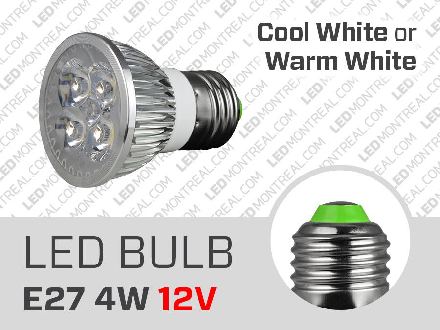 Ampoule led 12 volts 4w e27 dimmable led montr al - Ampoule led 12 volts ...