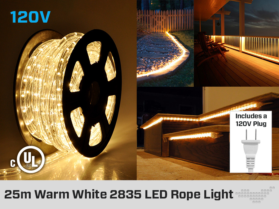 25 meter led rope light led montreal rope light cool white or warm white 25 meter aloadofball Images