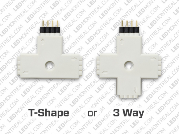 T Shape 4-Pin Connector 5050 RGB Strips