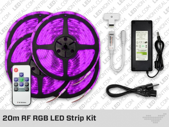 kit ruban led rgb rf de 15 20 m tres led montreal. Black Bedroom Furniture Sets. Home Design Ideas