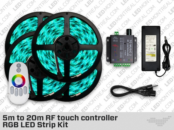 5 to 20 Meter RF Touch Controller RGB LED Strip Kit