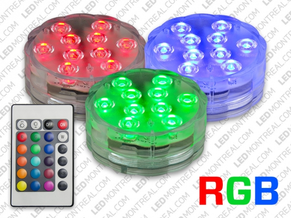 battery powered rgb led puck light led montreal. Black Bedroom Furniture Sets. Home Design Ideas