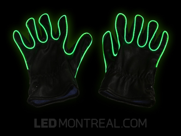 EL Wire Party Gloves