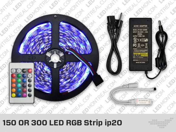 Kit ruban led non recouvert ip20 rgb led montreal - Ruban led rgb ...