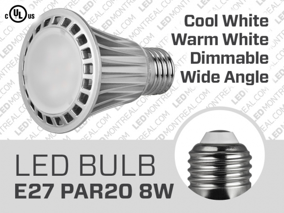 8W PAR20 Dimmable SMS LED Bulb