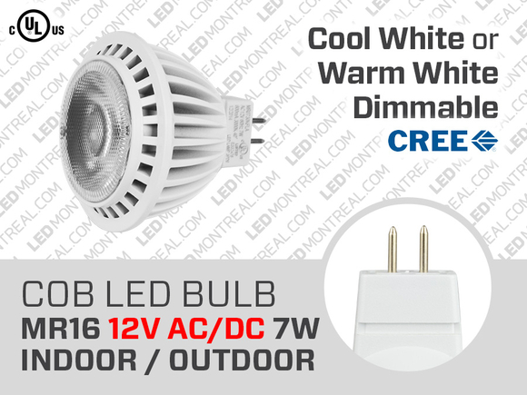 7W CREE Dimmable COB LED Bulb MR16