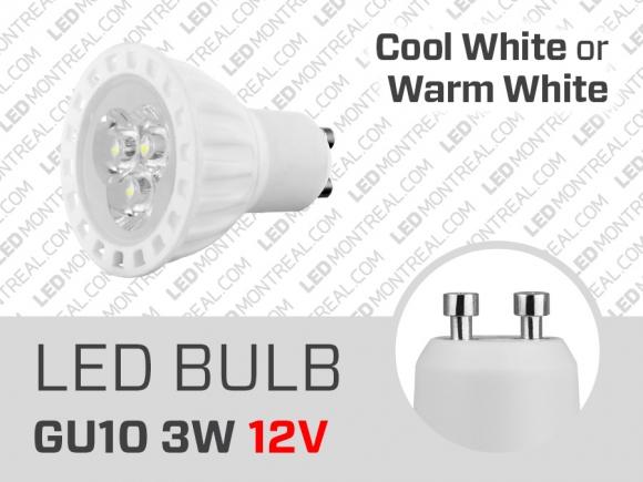 ampoule led smd 12v gu10 3w led montreal. Black Bedroom Furniture Sets. Home Design Ideas