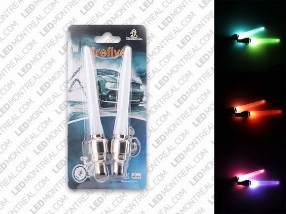 Pack of 2 long LED Bike Wheel Valve Cap Lights