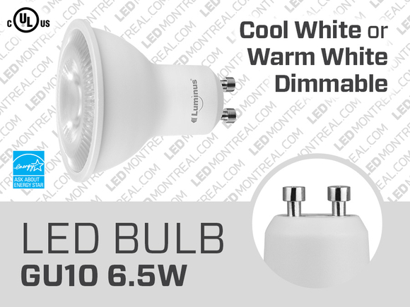 6.5W Dimmable GU10 SMD LED Light Bulbs