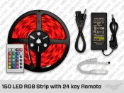 RGB LED Strip with 24 Key Remote (150 LED)