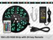Black PCB 150 LED RGB strip kit