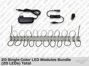 20 LED Cool White Module Bundle (60 LEDs)