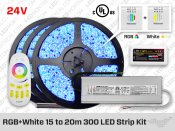 24V Kit Multi Zone RF, Rubans 300 LED RGBW