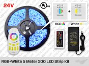 24V RF Multi Zone RGB Plus White 300 LED Strip Kit