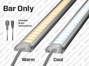 1m Single Color 5050 Rigid U-shape LED Bar Kit (72 LEDs)