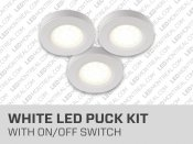 Under cabinet 3 LED Puck Lights Kit
