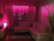 LED Strips behind curtains