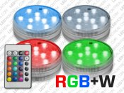 Battery Powered RGB LED Puck Light