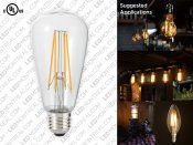 ST64 E27 Edison LED Filament Light Bulb