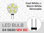 Flat G4 5630 LED Bulb Dimmable