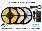 12V - Kit ruban de 5m iP65 600 LED 3528 Blanc