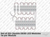Set of 20 Double 2835 LED Modules 0.48w per Module
