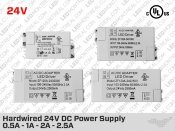 12V Hardwired Compact LED Driver 1A to 5A