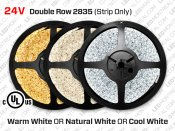 24V iP20 2835 Double Row LED Strip - 240 LED/m