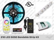 12V Bendable Super Bright 5050 RGB 210 LED Strip Kit