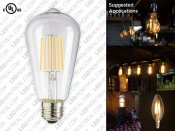 ST58 E27 Edison LED Filament Light Bulb