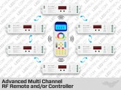 Multi Channel RF LED Advanced Controller and Remote