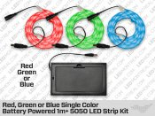 Battery Powered Epistar 1 to 5 Meter 5050 LED Strip kit