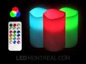Flameless RGB LED Candle with IR Remote