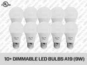 A19 and Dimmable E27 LED Light Bulb (Pack of Ten)