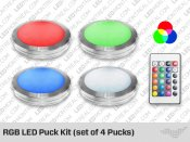 White LED Pucks Kit for Under Cabinet (set of 4 Pucks)