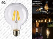 G80 E27 LED Filament Light Bulb