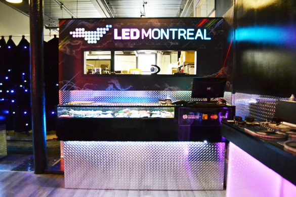 LED Montreal storefront