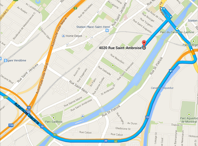 How to get to LED Montreal from Autoroute Decarie