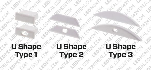 1M U-shape Rigid Aluminium Bar for LED Strips