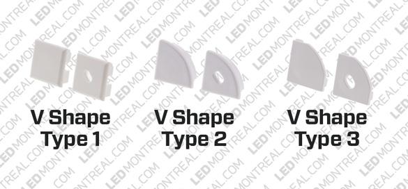 1M V-Shape 45° Aluminium Bar for LED Strips