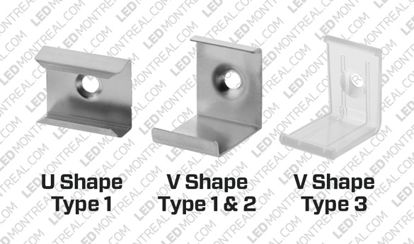 1M V-Shape 45° Aluminium LED Bar Kit, 72 LEDs