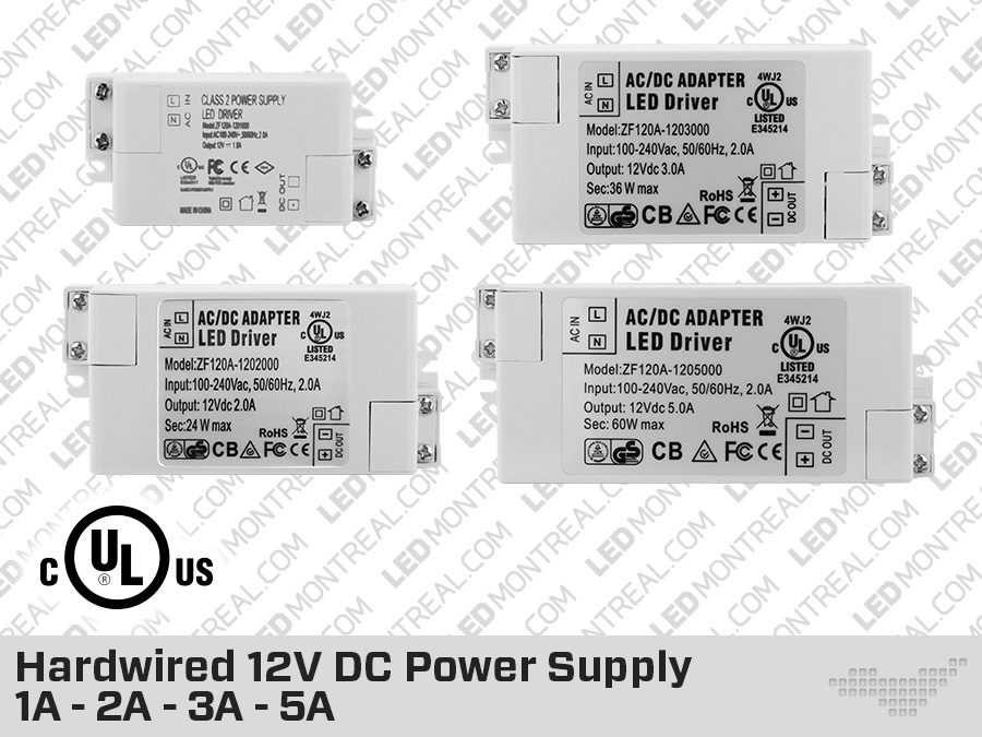 12v 1a to 5a hardwired led drivers led montreal rh ledmontreal com