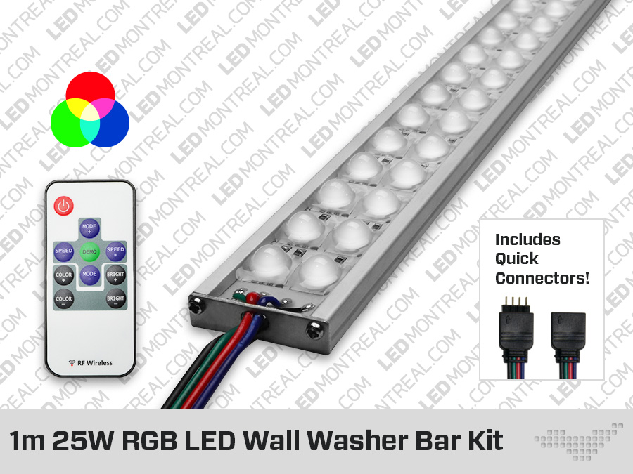 quality design 42e6f cbe8c 1m Indoor RGB LED Wall Washer Bar - LED Montreal