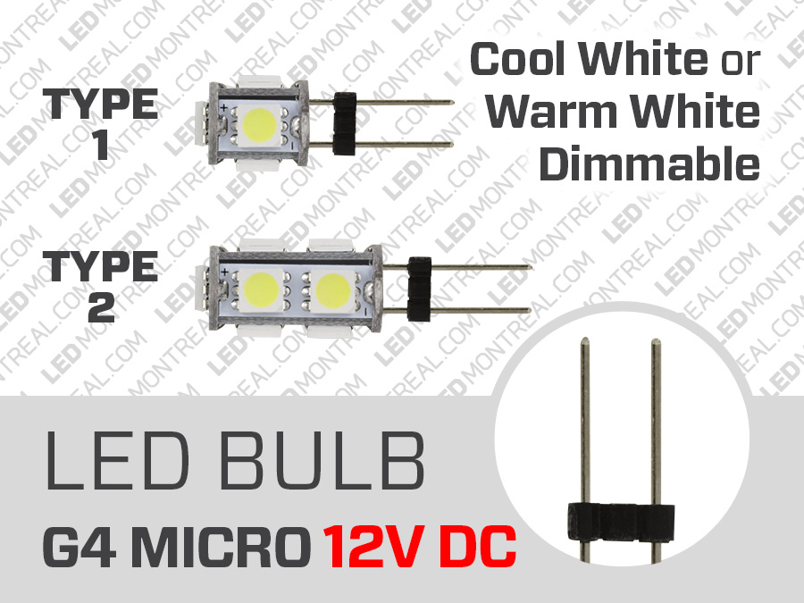 Led Bulb Micro G4 12v Dc 0 5 To 1 Watt Dimmable Led Montreal