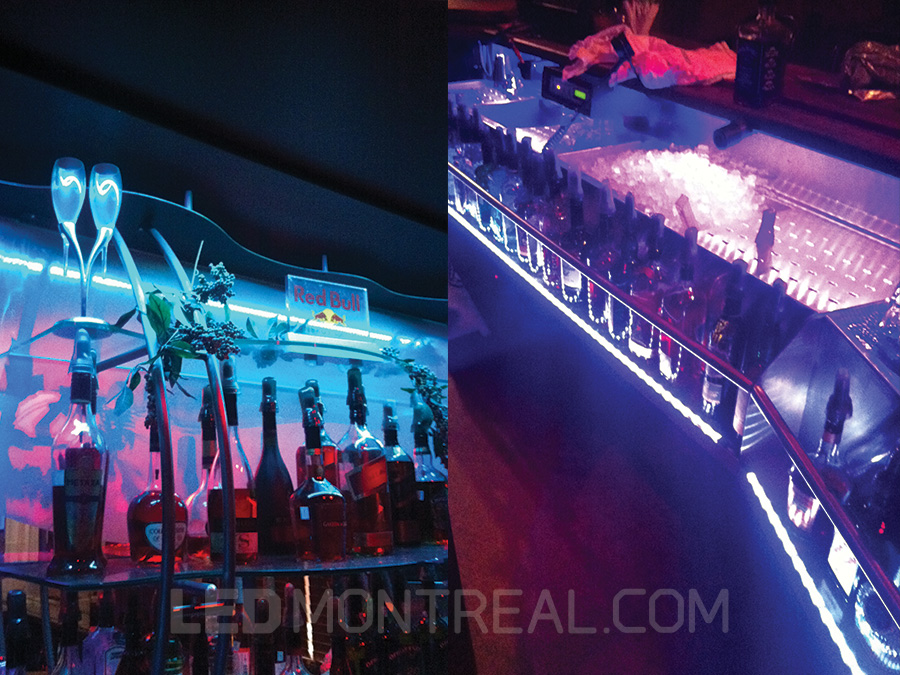 Mini Led Light Bar >> LED bar highlights at Club Wanda's - LED Montreal