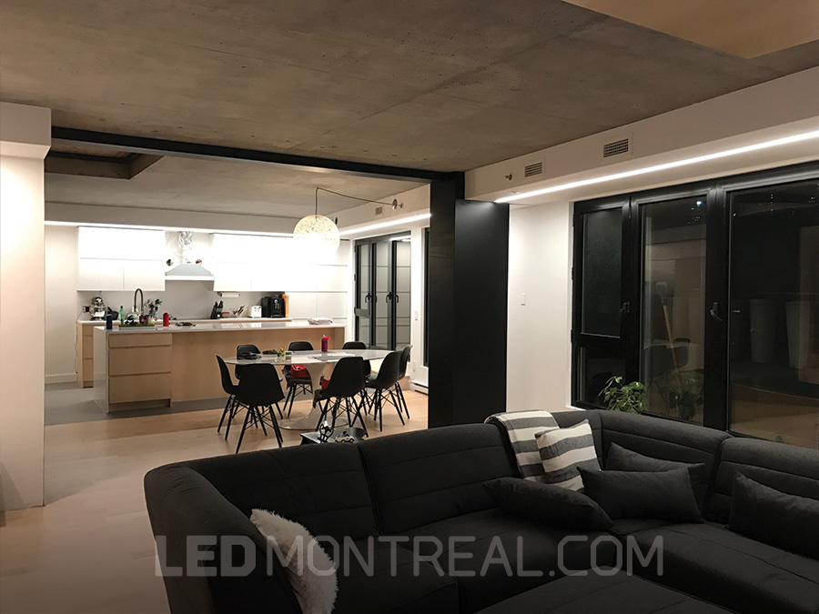 Continuous lighting led bar project led montreal