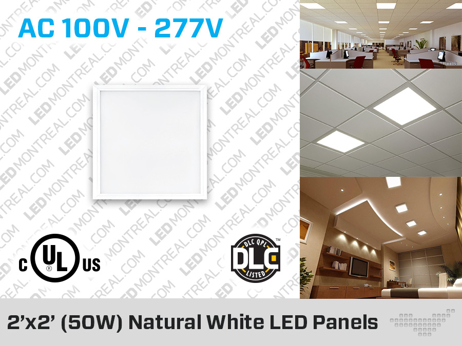 50w Led Light Panel 2x2 Feet Led Montreal