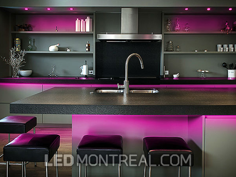 Under Cabinet Ultra Thin Rgb Led Puck Kit Led Montreal